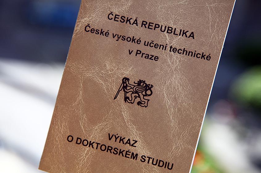 Докторская зачетная книжка ЧВУТ / Doktorský index ČVUT